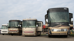 Group of RV's in Calgary